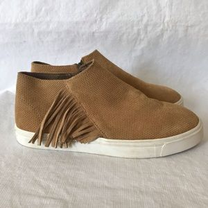 Minnetonka Gwen Suede Fringe Ankle Bootie Sneaker